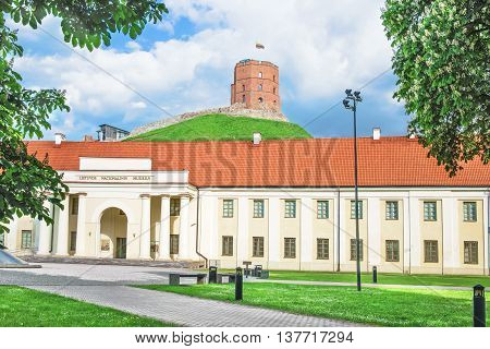 Gediminas Tower And National Museum Of Lithuania In Vilnius