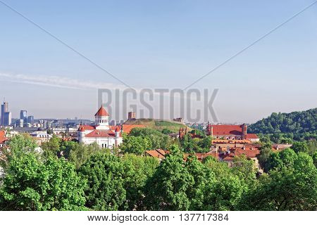 Upper Castle And The Cathedral Of The Theotokos In Vilnius