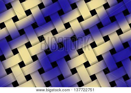 Illustration of dark blue and vanilla weaved pattern