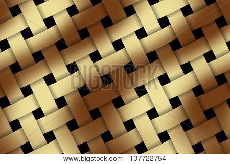 Illustration of brown and vanilla weaved pattern