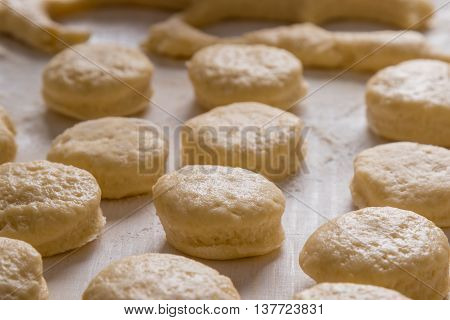 Raw Scones On Table