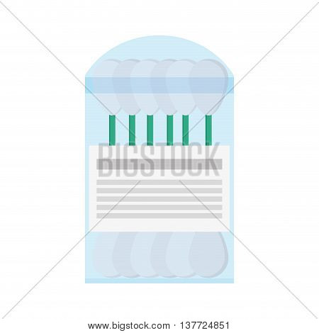 simple flat design cotton swab packet icon vector illustration