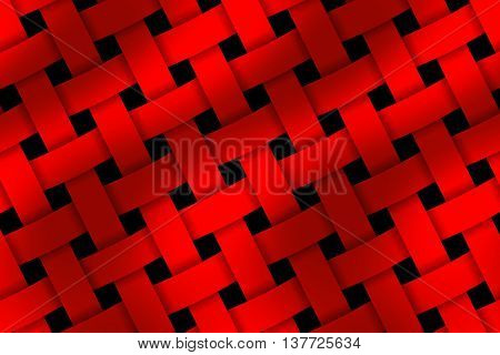Illustration of dark red and light red weaved pattern