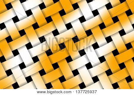 Illustratin of orange and white weaved pattern