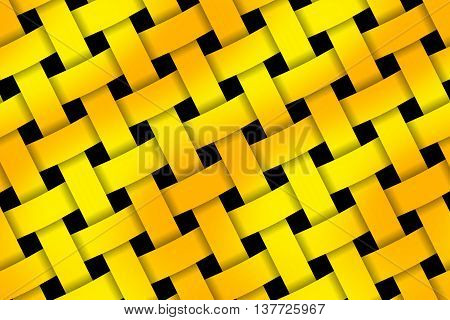 Illustration of orange and yellow weaved pattern
