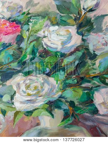 Oil Painting Impressionism style texture painting flower still life painting art painted color image wallpaper and backgrounds canvas artist painting a flower pattern roses