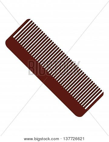 simple flat design hair comb icon vector illustration