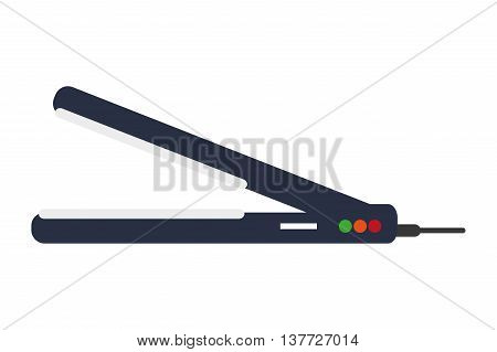 simple flat design hair straightener icon vector illustration