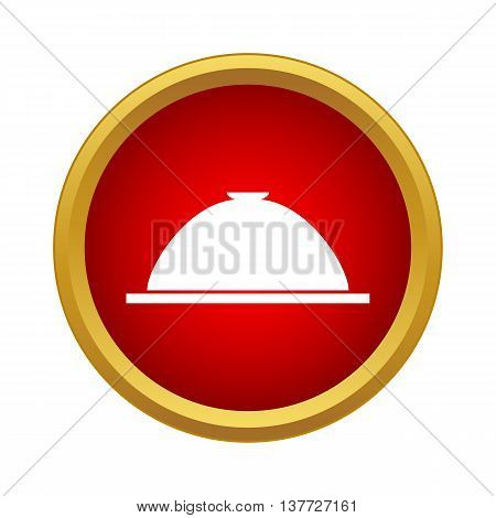 Cloche icon in simple style on a white background