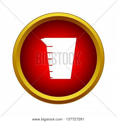 Measuring cup icon in simple style on a white background