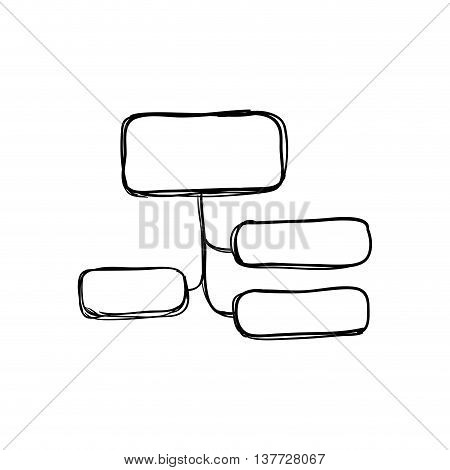Infographic concept represented by conceptual map icon. Isolated and sketch illustration