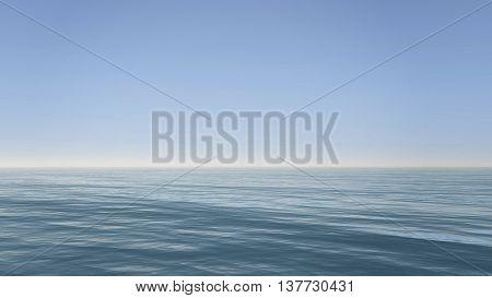 Ocean Deep And Clear Sky