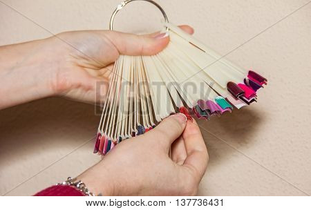 Manicure, Nail Gel And Select The Color, Nail, Applying A Colored Gel