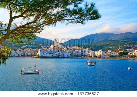 CADAQUES, SPAIN - NOVEMBER 19: Cadaques a small town on the Costa Brava Spain, popular with artists.