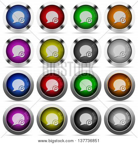 Set of Blog comment find glossy web buttons. Arranged layer structure.