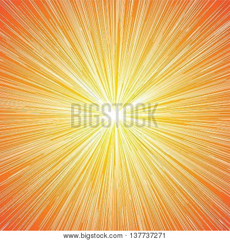 Sun Burst Blast Speed Line Comic Background Vector Illustration