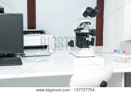 medical laboratory equipment for analysis and test