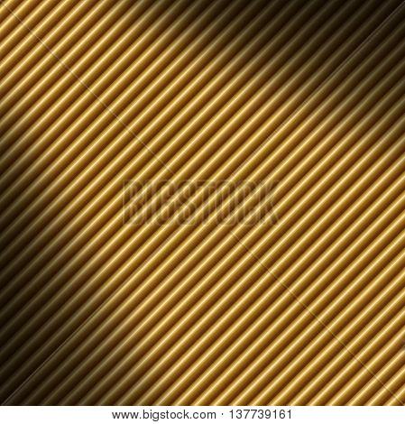 Diagonal gold tube background texture lit dramatically
