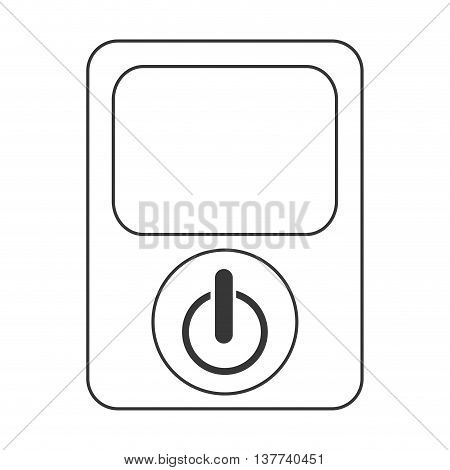 power device button icon Isolated vector illustration