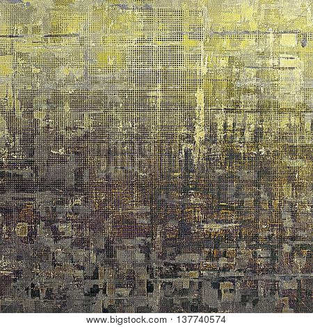 Colorful grunge background, tinted vintage style texture. With different color patterns: yellow (beige); brown; green; gray; black; purple (violet)