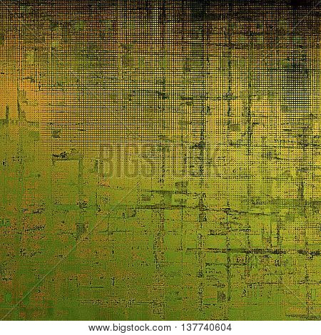 Grunge retro texture, aged background with vintage style elements and different color patterns: yellow (beige); brown; green; gray; black