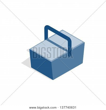 Bag refrigerator icon in isometric 3d style isolated on white background. Cooler symbol