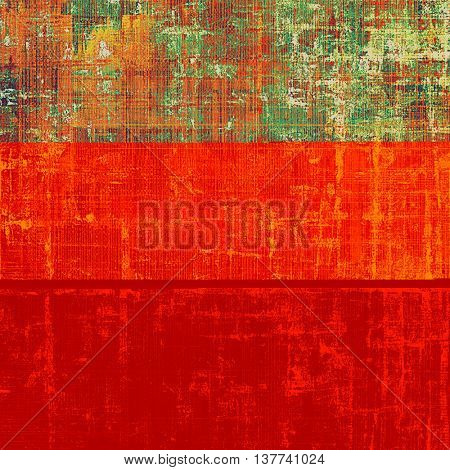 Creative grunge background in vintage style. Faded shabby texture with different color patterns: yellow (beige); brown; green; red (orange); purple (violet)
