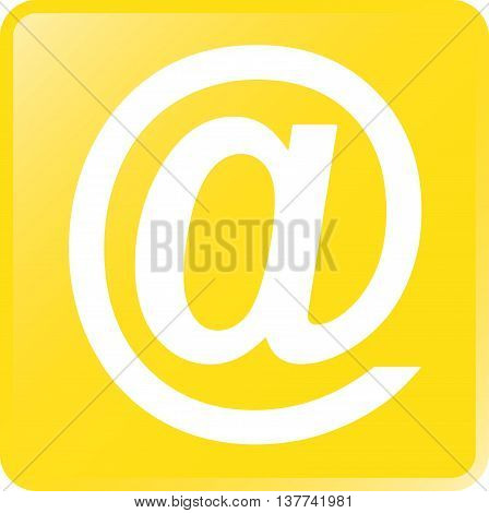 Vector Email Concept Icon White on Yellow