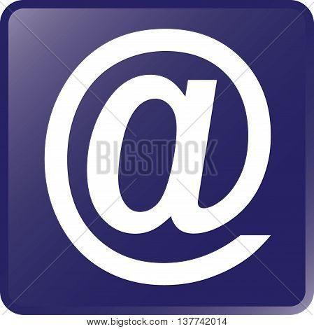 Vector Email Concept Icon White on Violet