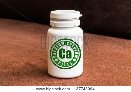 Bottle Of Pills With Calcium