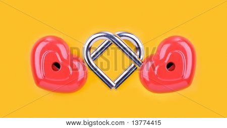 Image of two reds locks connected together