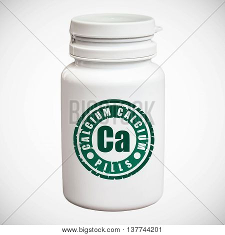 Bottle Of Pills With Calcium Ca