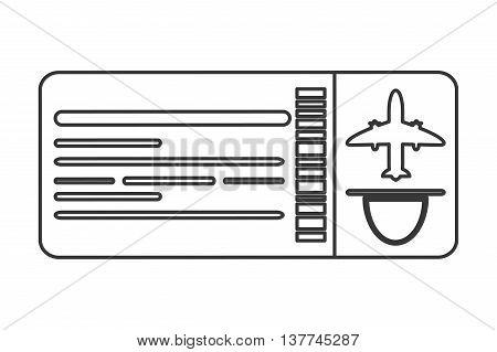 flat design airplane ticket icon vector illustration line design