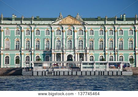 St. Petersburg. Palace Square. Hermitage. View from Neva river