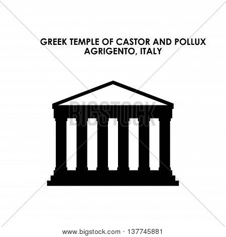 Italy culture concept represented by greek temple icon. Isolated and flat illustration.