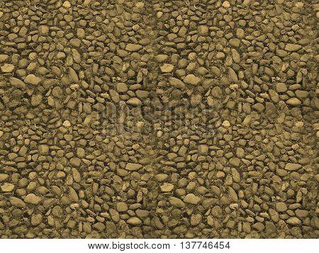 Seamless Tileable Texture -  Stone Floor Sepia