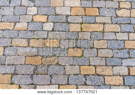 Cobblestone Pavement On Street In Prague
