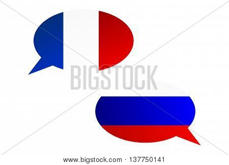 Conversation Bubbles Between France And Russia