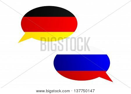 Conversation Bubbles Between Germany And Russia
