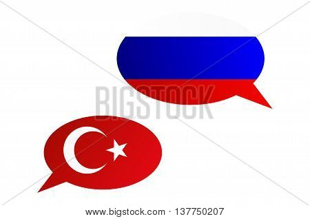 Conversation Bubbles Between Russia And Turkey