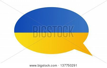 Conversation dialogue bubble of the Ukraine on white background