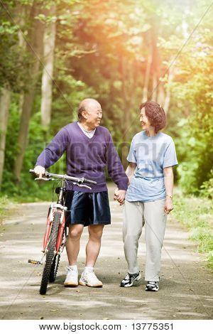 Senior Active Asian Couple