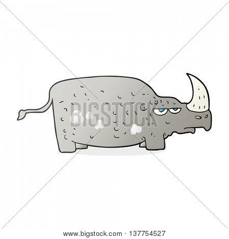 freehand drawn cartoon rhino