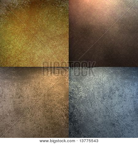 Brown, Gold, and Blue Block Background