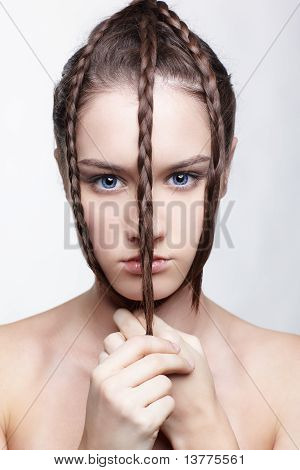 Girl With Creative Hair-do