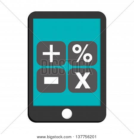 tablet device math operations icon isolated vector illustration