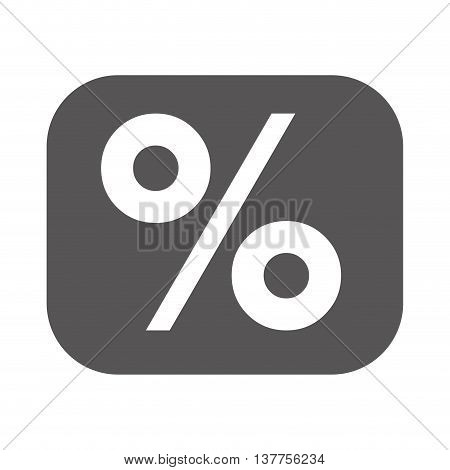 percentage symbol financial flat icon isolated vector illustration