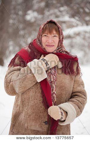 Mature Woman In Kerchief