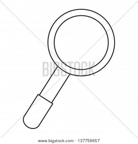 mahnifying glass search icon isolated vector illustration