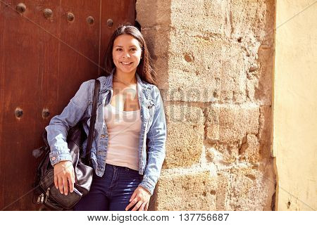 Pretty Young Girl Posing For Picture